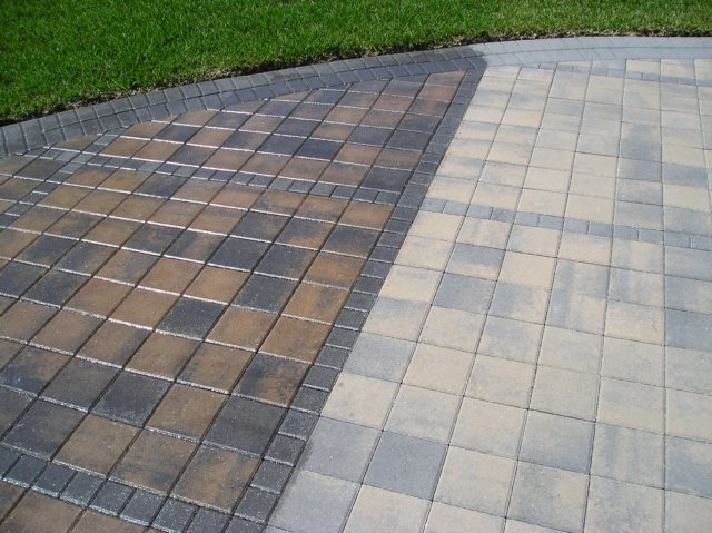 Paver Sealing Top Down Cleaning