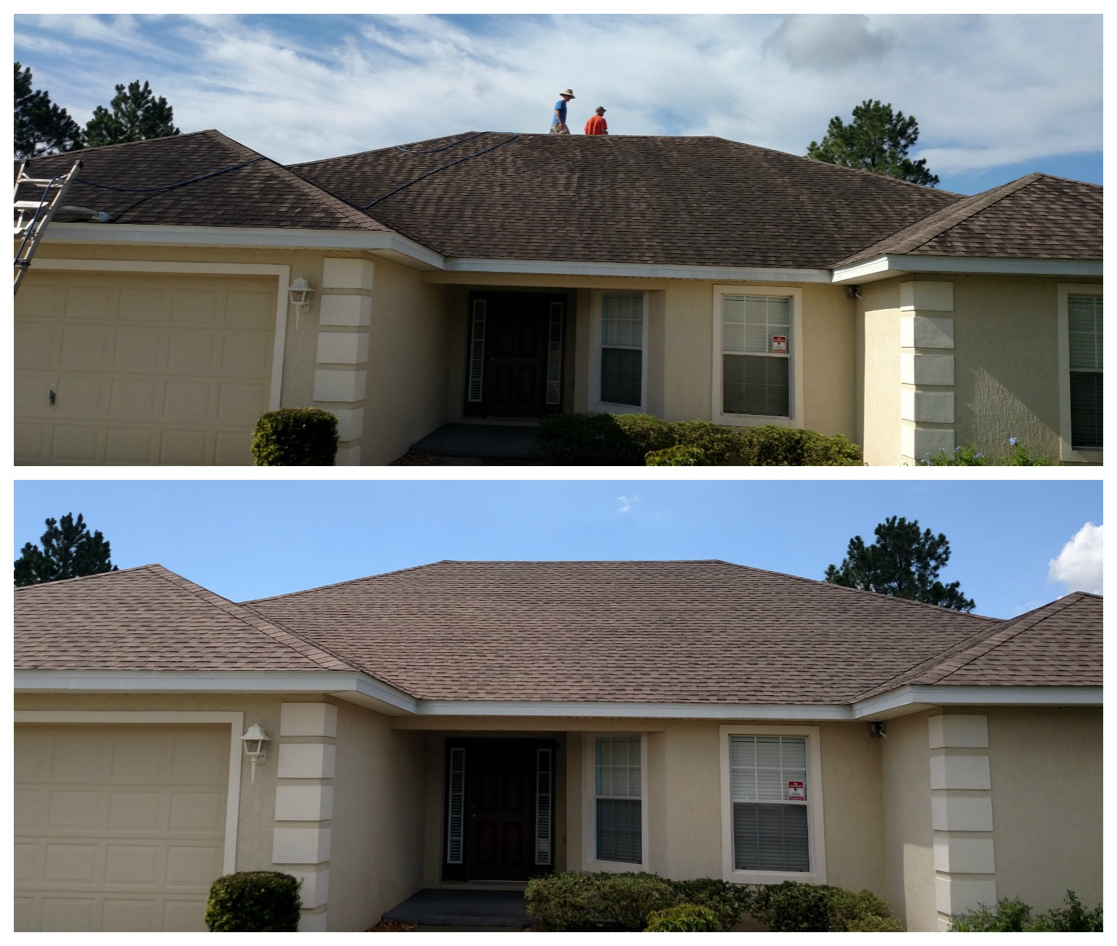 Safe non pressure roof cleaning in lakeland fl top down exterior home cleaning - Exterior home cleaning ...
