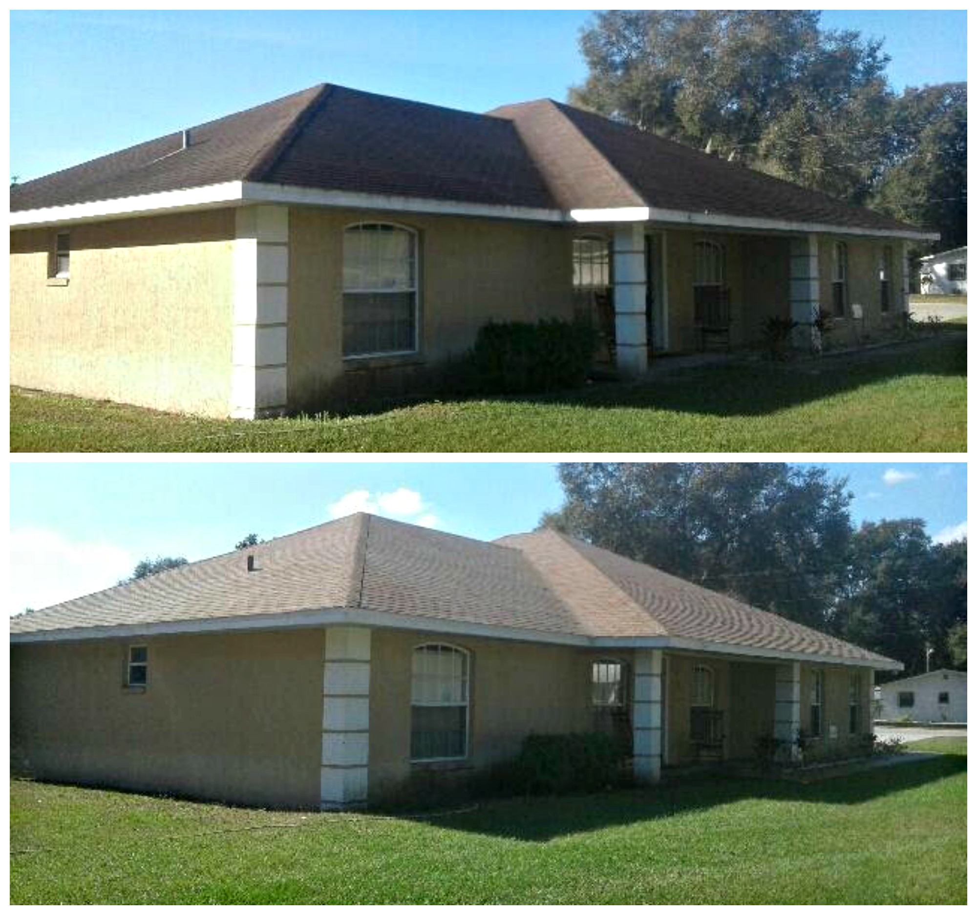 Another quality roof cleaning in lakeland florida top down exterior home cleaning - Exterior home cleaning ...